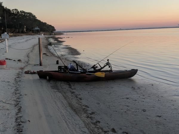 getting ready for a day of fishing Kayak Beach Nautical Vessel Sand Sea