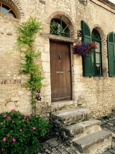 Architecture Door Flower Built Structure Building Exterior Window Plant Potted Plant Outdoors Day No People Window Box EyeEmNewHere Art Is Everywhere EyeEm Diversity The Secret Spaces Sommergefühle
