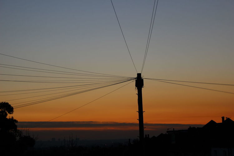 Atmospheric Mood Canonphotography Dlsr EyeEm Gallery Low Angle View Multicolour No Filter No Filter, No Edit, Just Photography Outdoors Power Line  Silhouette Sky Sunset