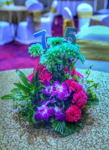 Flower Flowering Plant Plant No People Close-up Freshness Nature Focus On Foreground Beauty In Nature Growth Fragility Purple Flower Head Indoors  Green Color Table Day Pink Color Inflorescence Vulnerability