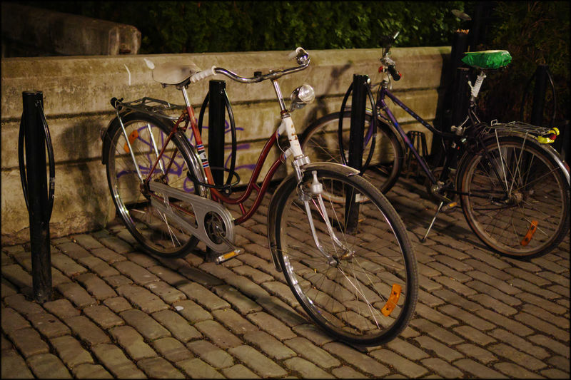 Absence Bikes Locked Up In Sweden Cycle Cycling Deterioration Getting Around Land Vehicle Leaning Mode Of Transport No People Outdoors Parked Parking Parking Lot Pumped Up Stationary Tourist Transportation Tyre Weekend Leisure Wheel