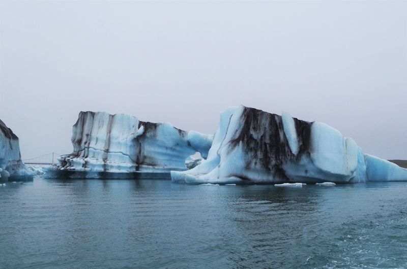 Scenic view of icebergs in iceland