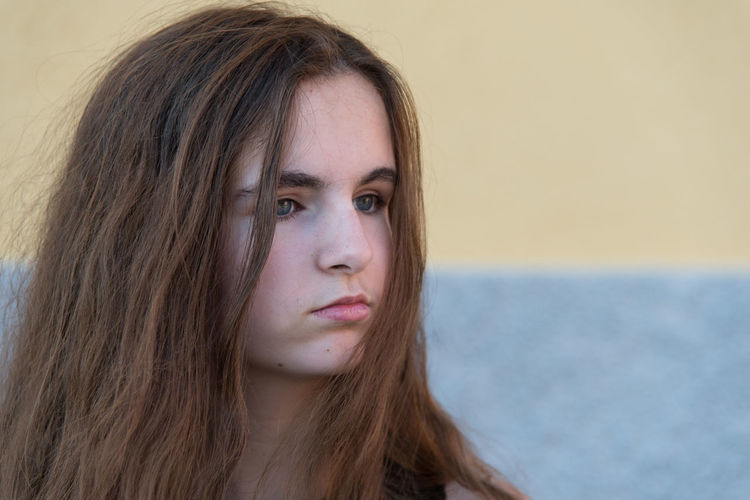 Life Thinking Beautiful Woman Close-up Day Front View Human Face Lifestyles Long Hair One Girl Only One Person One Woman Only Outdoors People Portrait Real People Sad Sadness Sea Serious Teenager Young Adult Young Women Melancholy Melancholic