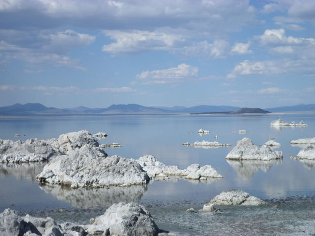 Beauty In Nature Cloud - Sky Day Eerie Floating On Water Horizon Over Water Iceberg Lake LifeLess Mono Lake Nature Nevada No People Outdoors Reflection Saltwater Scenics Sea Sky Still Stillwater Tranquil Scene Tranquility Water Waterfront