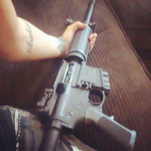 Ar15 Gun Assultriffel Tattoos hardcore bitchwithagun run daddysgun