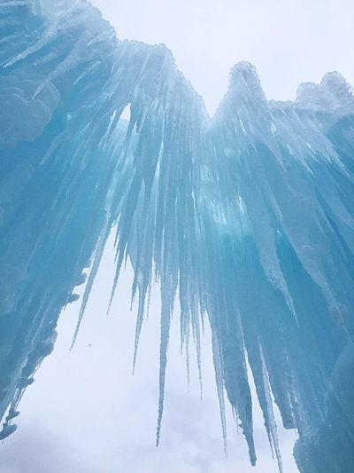 Negative Space Ice Castles Icecle Cold Winter Sharp