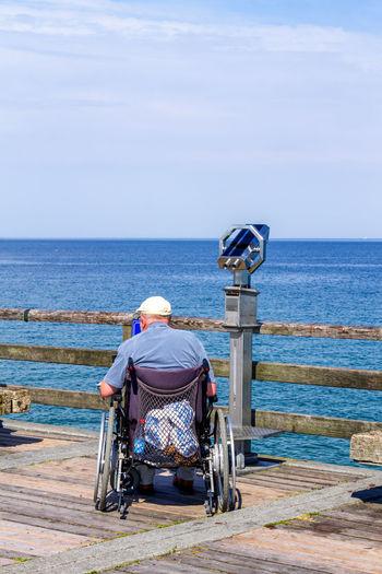 Beach Behinderung Berhinderung Bridge Germany Landscape Mecklenburg Meer Nature Ocean Rollstuhl Rollstuhlfahrer Sea Travel Urlaub Wheel Chair