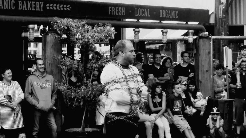 Fresh Local Organic Escape Artist Busker Street Theatre