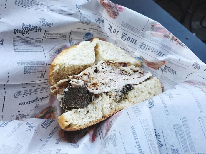 Text No People Close-up Indoors  Freshness Day Panino Porchetta  Umbria Tradizione Specialità Italy Pig Spice Bread Streetfood Food Stories