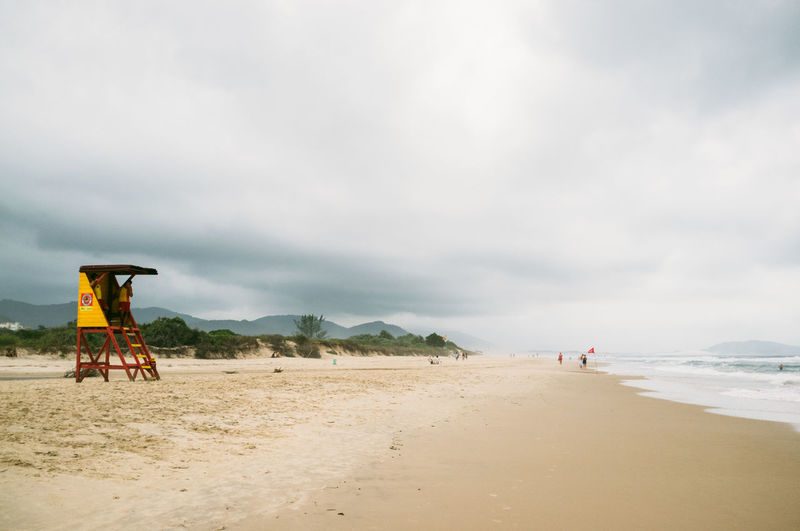Beach Beauty In Nature Brazil Cloud Cloud - Sky Day Florianópolis Full Length Lifestyles Men Nature Outdoors People Real People Sand Scenics Sea Sky Two People Water
