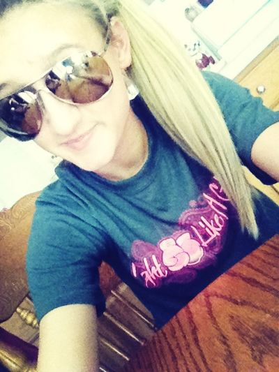 Styiling In Bobby Rays!(: Glasses
