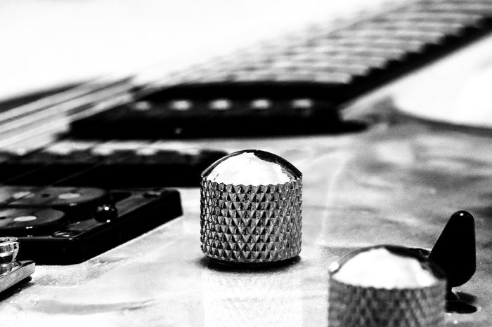 Feeling Music Perspective Blackandwhite Close-up Day Focus On Foreground Guitar Guitarist Indoors  Macro Music No People Sonyalpha