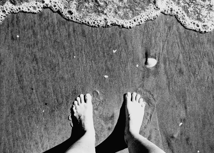 Feetinthesand Waves Waves, Ocean, Nature Ocean Vacation Summer Blackandwhite Lifestyle Toes Toes In Sand B&w Low Section Water Beach Standing Sand Human Leg Summer High Angle View Directly Above Feet Sandy Beach Leisure Shore Human Feet Trip Recreation  Holiday Destination Personal Perspective