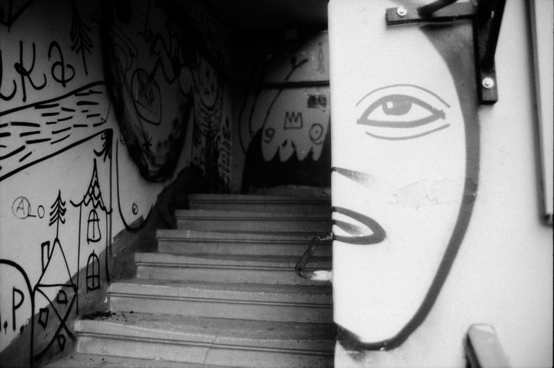35mm Film Analogue Photography Architecture Blackandwhite Building Entrance No People Stairs Still Life Streetphotography