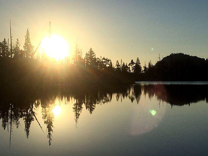 Sunrise at Middle Velma Lake