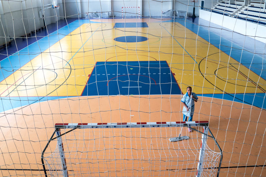 Architecture Blue Building Exterior Built Structure Court Creativity Day Futsal Gym Improvement Indoors  Multi Colored No People Retail  The Color Of Sport