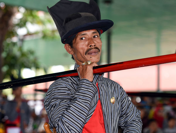 Yogyakarta Kraton Cap Day Focus On Foreground Incidental People Lifestyles One Person Outdoors Portrait Real People Standing Young Adult