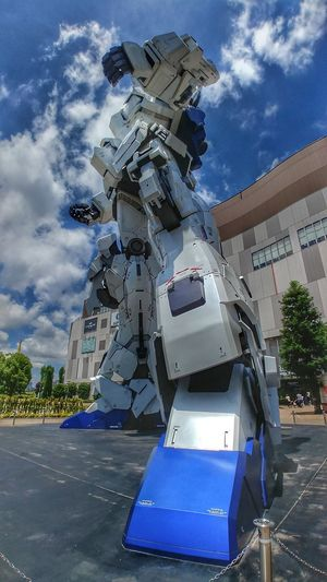 Mobile Suit Gundam Unicorn Gundam Unicorn Odaiba Tokyo Futuristic Sea City Water Sky Architecture Built Structure
