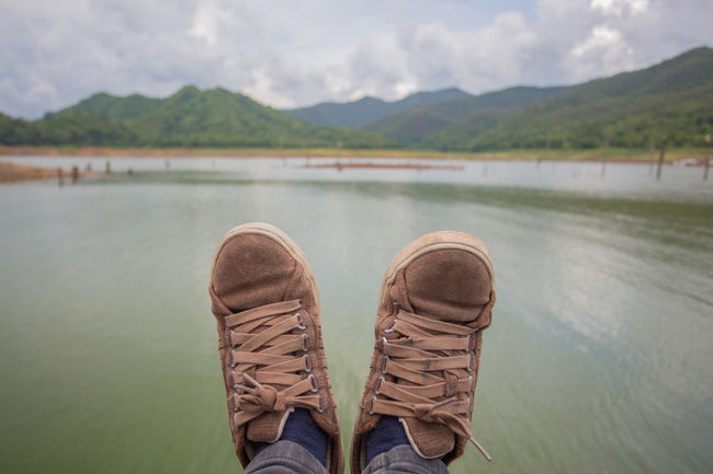 Vacation Time Adult Beauty In Nature Close-up Day Human Body Part Human Leg Lake Leisure Activity Lifestyles Low Section Mae Ngat Men Mountain Nature One Person Outdoors People Personal Perspective Real People Relaxing Shoe Sky Standing Tranquility Water
