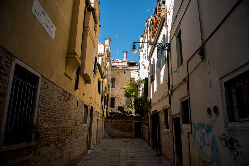 Venice, Italy Alley Architecture Building Exterior Built Structure Day No People Outdoors Sky The Way Forward Venice Walkway