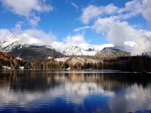 Mountain Lake Nature Sky Water Snow Beauty In Nature Wild Hightatras  Strbske Pleso Vysoke Tatry Scenery Photography First Eyeem Photo Slovakia