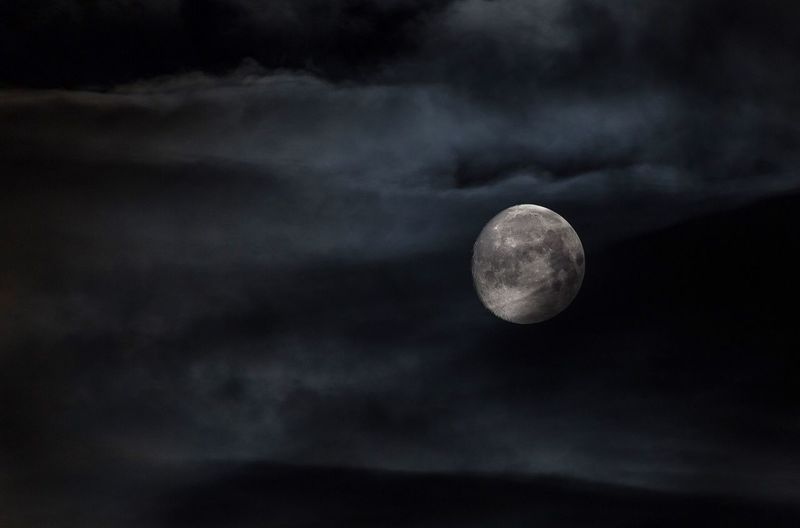 Moon Sky Nature Astronomy Scenics Cloud - Sky Beauty In Nature Tranquility Night Outdoors Planetary Moon No People Space Moon Surface Solar Eclipse