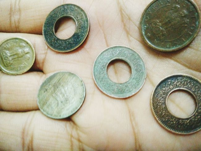 Old coins! Indoors  Close-up Old Coins Paise Old Coins Coins Different Back Side No People
