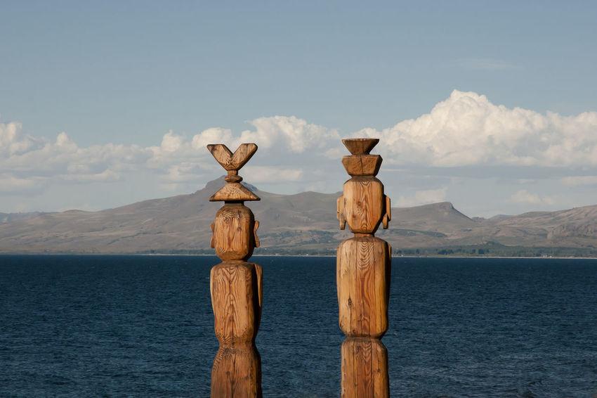 Wooden Statues - Nahuel Huapi Lake - Argentina Nahuel Huapi Argentina Bariloche Lake Wooden Statue