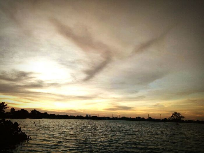 lake✌ Lake View Lake Landscape Photography Tangerang Hangout GoodDay❤ Sunset Cloud - Sky Water Dramatic Sky Scenics Tranquility No People