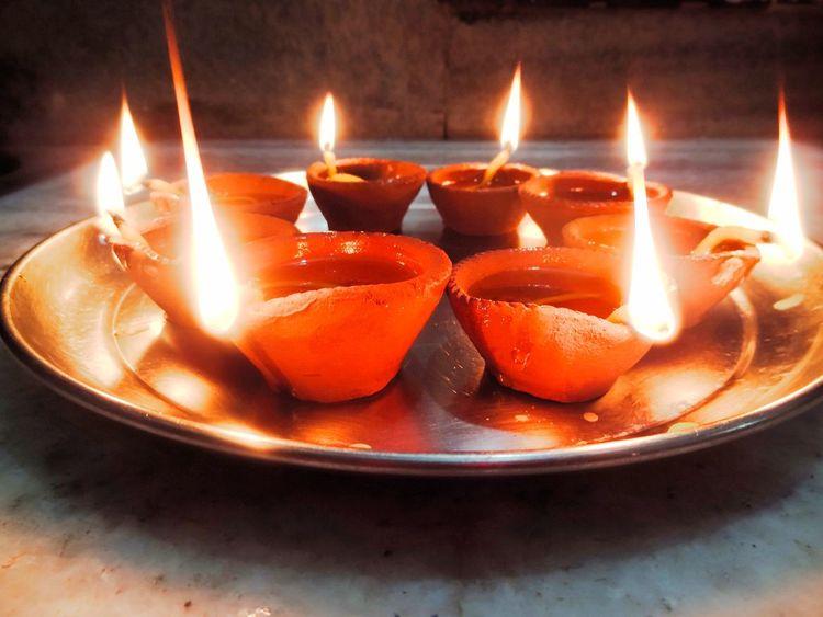 No People Celebration Glowing Decoration Lit Illuminated Fire Flame Religious Celebration