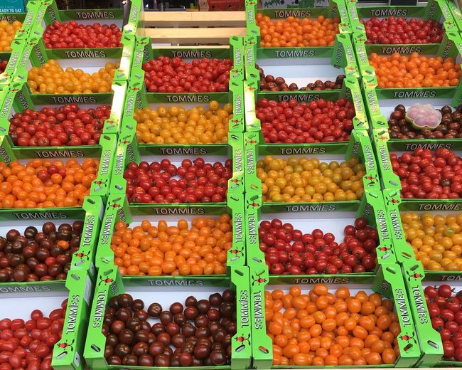 Tomatoes Markthal Rotterdam Market Stall Fruit And Vegetable Market Cherry Tomatoes