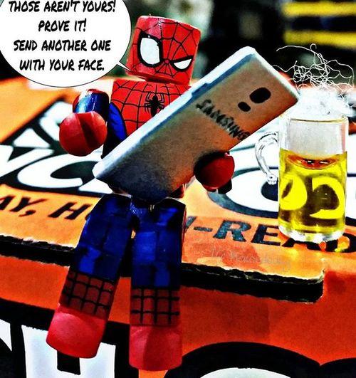 Spidey drunk texting random ladies in New York Tcb_comeoverherepal Fwebruary Toyhumor