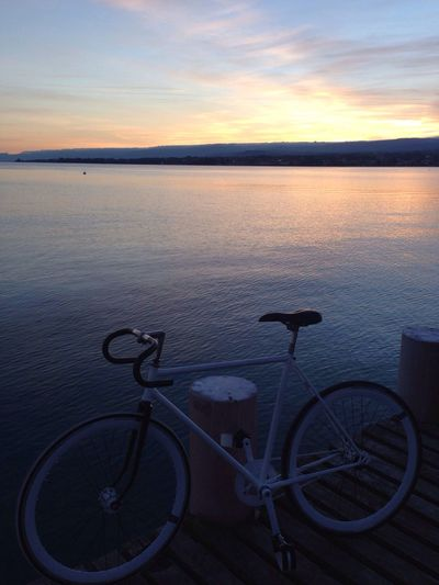 my new Bike ! Sunset On the lake with my Fixie Details Of My Life
