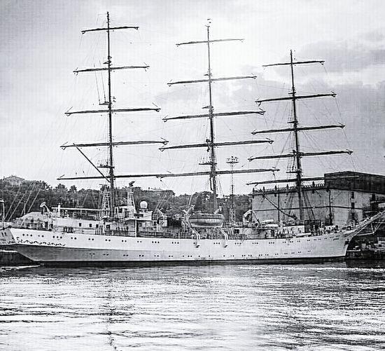 Sailing ship, bark, training ship, bark MIR, UKRAINE
