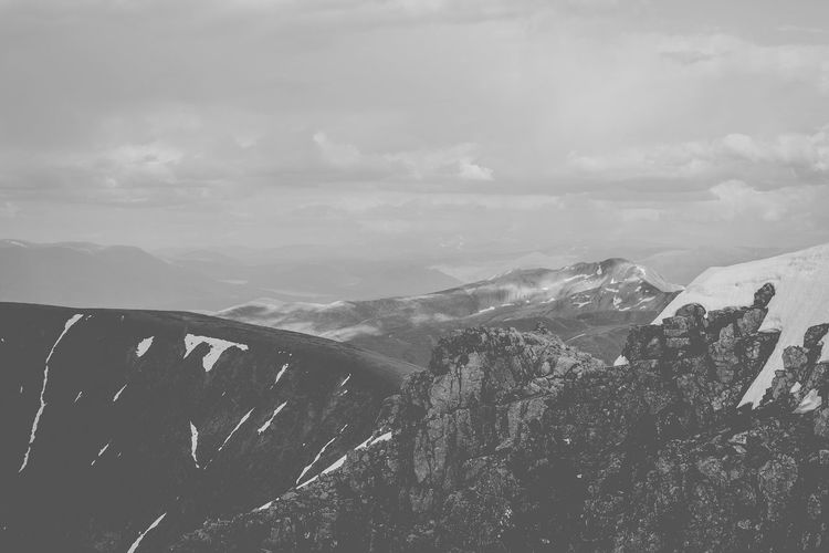 The Grampian Mountains. The feeling of making it up there was incomparable. Beauty In Nature Feel The Journey Black And White Collection  Black And White Photography Climbing Europe Hiking Landscape Mountain Mountain Range Nature Nature Photography Nature_collection Non-urban Scene Physical Geography Scenics Scotland Snowcapped Mountain The Great Outdoors - 2016 EyeEm Awards Tourism Tranquil Scene Travel Travel Photography Traveling Trekking An Eye For Travel The Great Outdoors - 2018 EyeEm Awards British Culture