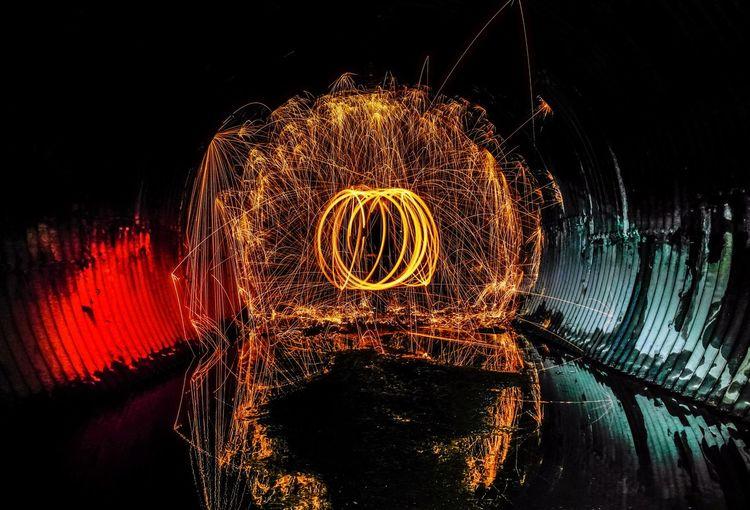Steelwoolphotography Circle Fire Tunnel Night Photography Night Lights Beautiful Night Photography In Motion EyeEm Best Shots Taking Photos Love Taking Photos Enjoying Life