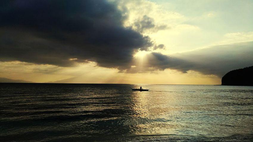 Water Sea Cloud - Sky Nature Dramatic Sky Sunset Horizon Over Water