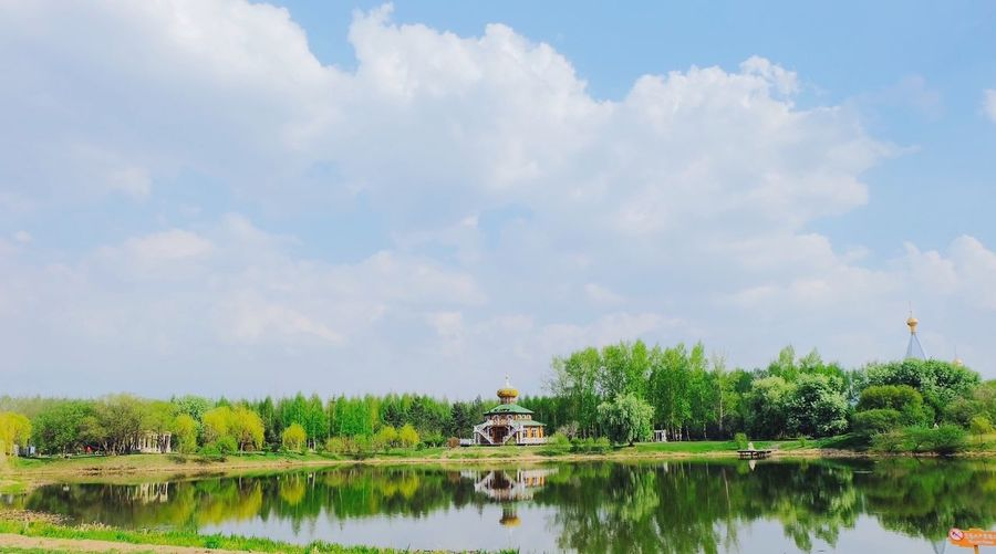 Russia Russianbuilding Taking Photos Hello World Shawdow Shade In Water Lake Lake View Landscape_Collection Landscape Park
