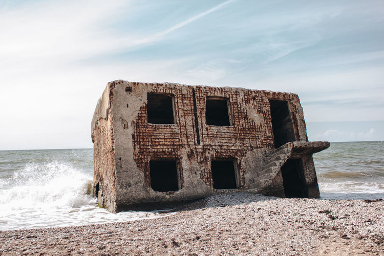 Latvia Latvija Liepaja Abandoned Architecture Beach Beauty In Nature Built Structure Cloud - Sky Day Deterioration Horizon Horizon Over Water Land Motion Nature No People Outdoors Scenics - Nature Sea Sky Water Wave