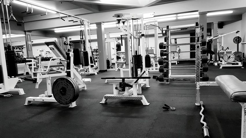 The Sweat Gym Working Out Black And White
