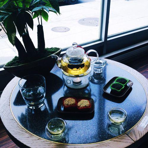 Relaxing Jingsoo Tea Greentea Sesame Mochi Hanging Out