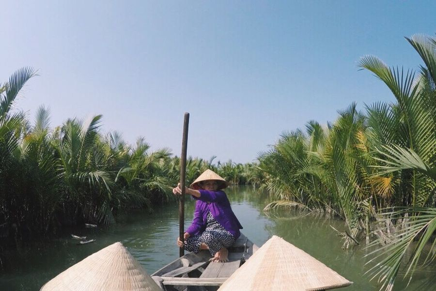 dreaming of far away places this morning Vietnam Hoi An City Reeds Reeds At The Lake Culture Straw Hat Rowing Boat ASIA Asian Culture Hoi An, Vietnam Clear Skies Hot Weather On The Way The Journey Is The Destination Connected By Travel