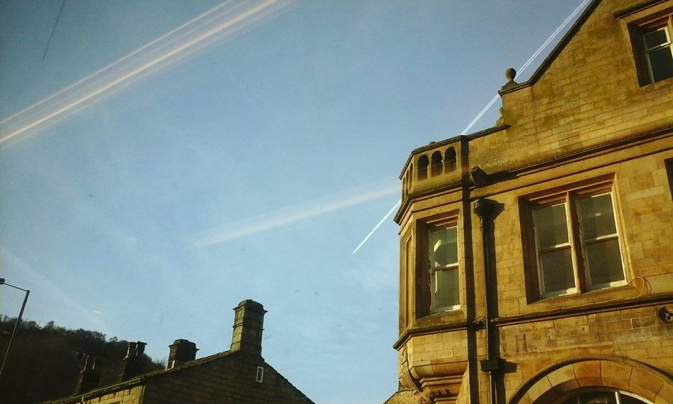 Luckily I remembered to out my phone on silent for this shot! Hebdenbridge Hello World No People Airplane Clouds Spring My View Viewbugfeature Here Belongs To Me Urban Spring Fever Bank Hebden Bridge Travel Town Buildings & Sky Architecture Architectureporn Bus Bus Ride PhonePhotography Sunshine Afternoon Sunny Check This Out Taking Photos Check This Out