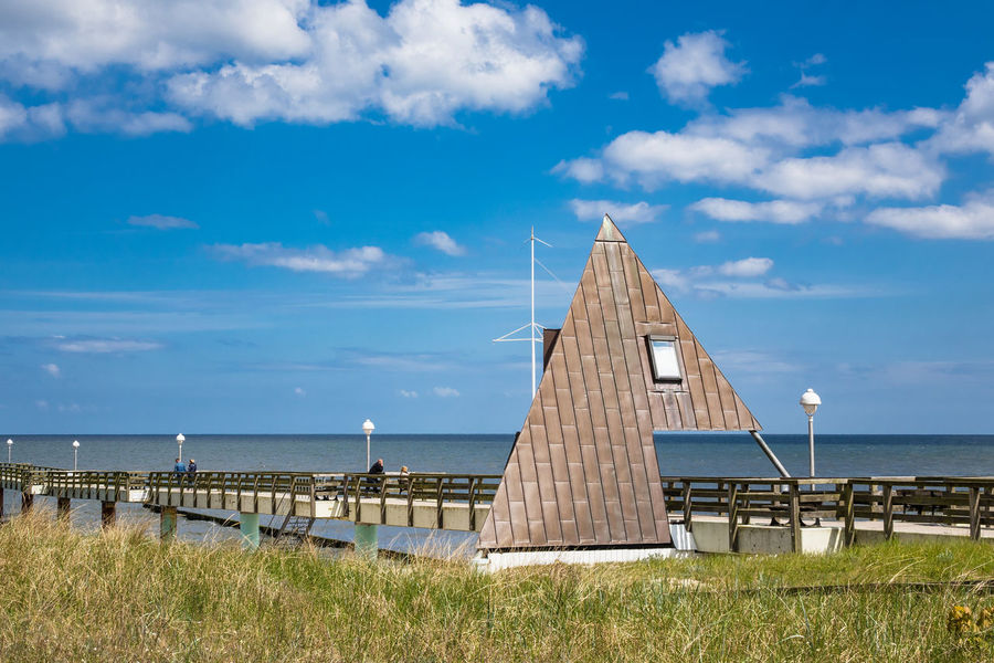 Pier on the Baltic Sea coast. Baltic Sea Holiday Pier Relaxing Beach Beauty In Nature Cloud - Sky Coast Day Horizon Over Water Jetty Journey Koserow Landscape Nature No People Outdoors Sea Shore Sky Tourism Travel Destinations Usedom Vacation Water