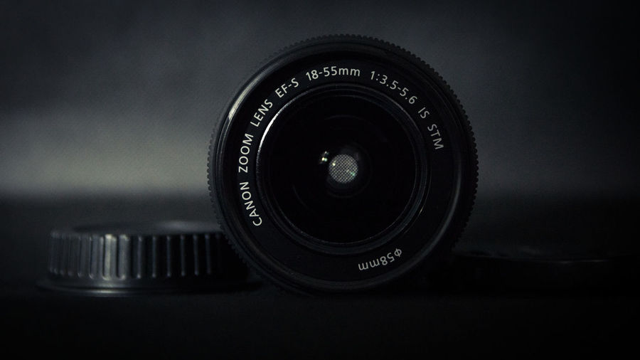 Canon 18-55_02 Black Color Camera Camera - Photographic Equipment Canon Canon 18-55 Close-up Day Digital Camera Digital Single-lens Reflex Camera Film Industry Indoors  Lens - Optical Instrument Modern Movie Camera No People Old-fashioned Photograph Photographing Photography Themes SLR Camera Technology
