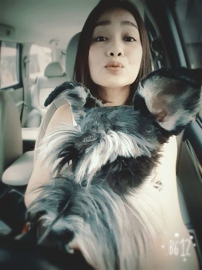 Good morning !!! Taking Photos Hanging Out Baxter My Dog :) Miniature Schnauzer Smile ♥ What Makes You Calm On The Road