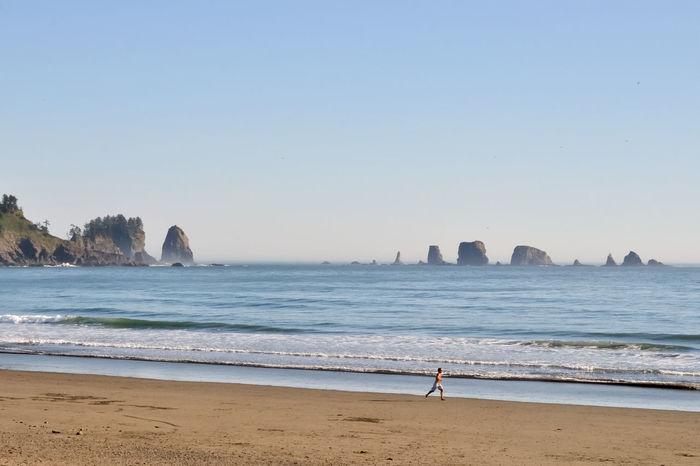 Evening Beach Beach, Coast Jogging Ocean Rocks Running Sand Sky Water