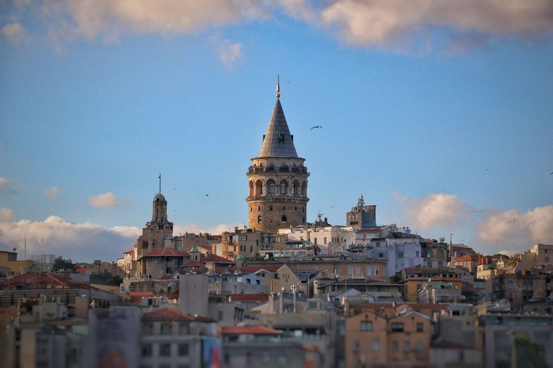 Galata Architecture Built Structure Building Exterior City Sky Building Religion Tower Place Of Worship Tourism Travel No People Cloud - Sky Outdoors Belief Travel Destinations Spirituality Nature Day Cityscape