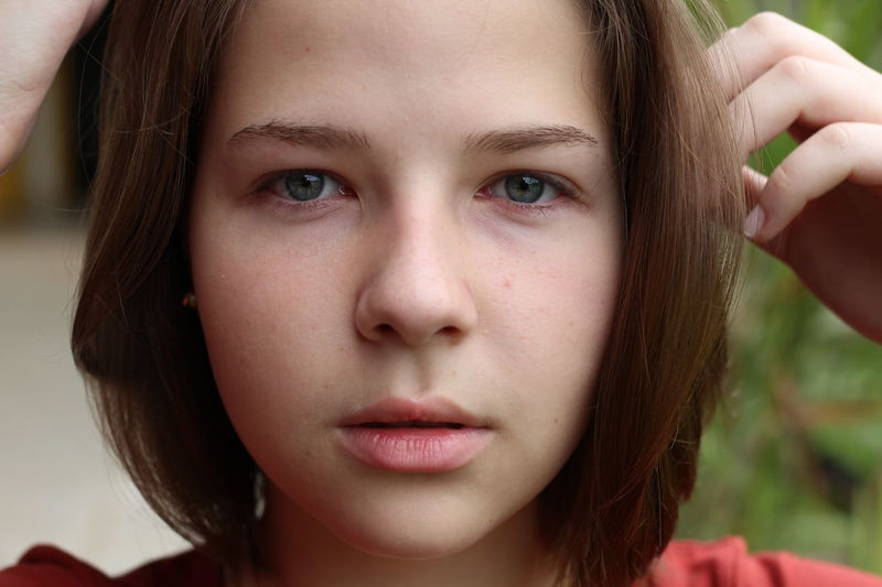 Beauty Child Childhood Close-up Day Eye Color Freckle Front View Headshot Human Body Part Human Eye Human Face Looking At Camera Natural Beauty One Girl Only One Person Outdoors People Portrait Short Hair Teenage Girls Teenager The Week On EyeEm
