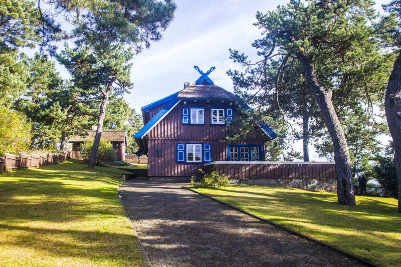 Thomas-Mann-Haus, Nina, Curonian Spit, Baltic States, Lithuania Curonian Spit Nida Lithuania Thomas-Mann-Haus Architecture Beauty In Nature Building Exterior Built Structure Curonianspit Day Grass House Nature Nida No People Outdoors Shadow Sky Sunlight Thomas Mann Thomas Mann Haus Tree